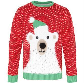 Polar Bear 3D Christmas Jumper