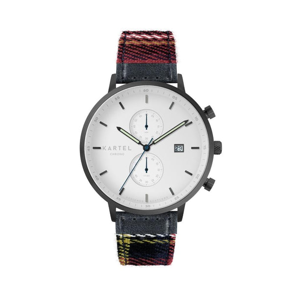 KNOYDART 43mm Red Tartan Strap Watch