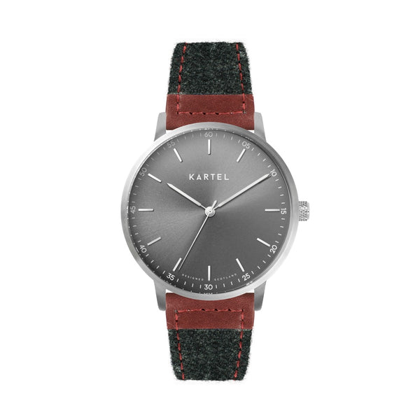 HUME 40mm Grey Fabric Strap Watch