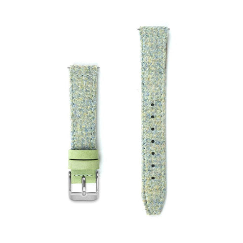 Mint Green Harris Tweed Watch Strap - 16mm Width Watch Strap - Kartel Scotland