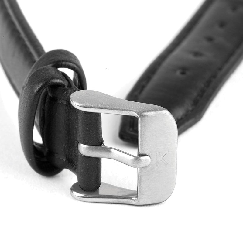 Black Stitched Leather Watch Strap - 16mm Width Watch Strap - Kartel Scotland