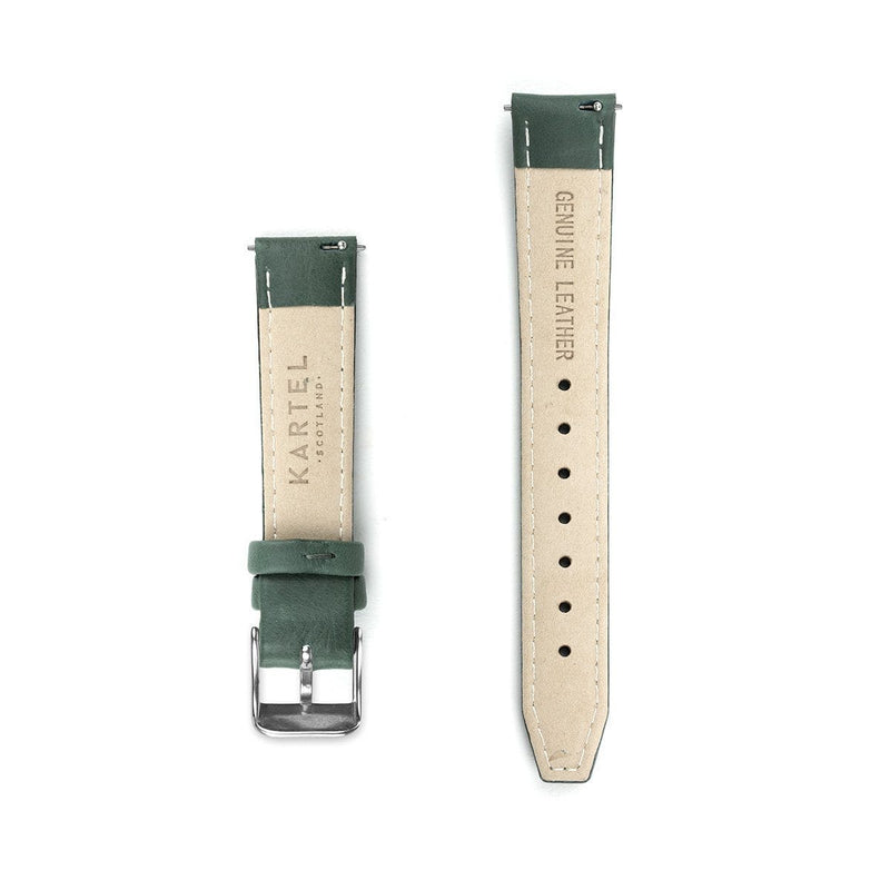Green Leather Watch Strap - 16mm Width Watch Strap - Kartel Scotland