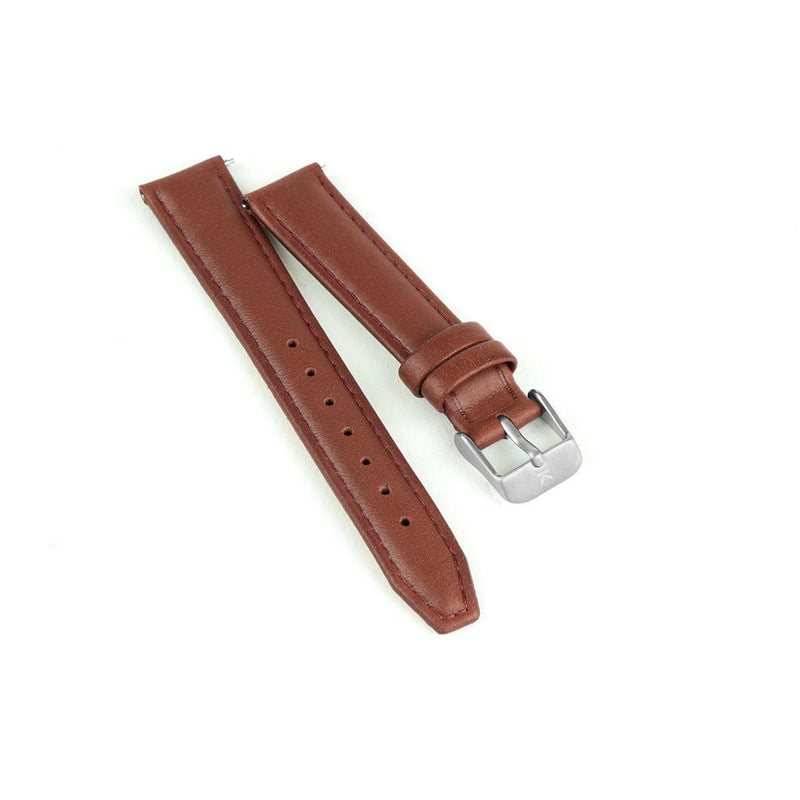 Maroon Stitched Leather Watch Strap - 16mm Width Watch Strap - Kartel Scotland