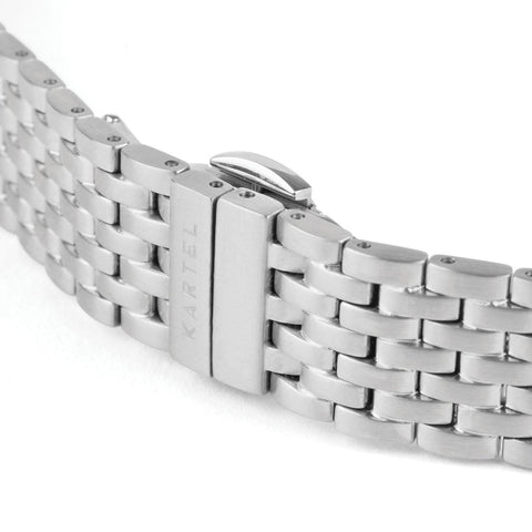 16MM - SILVER METAL STRAP Watch - Kartel Scotland