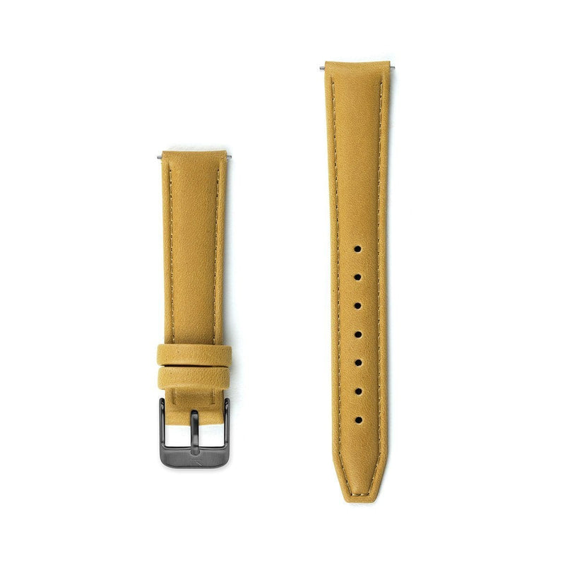 Mustard Stitched Leather Watch Strap - 16mm Width Watch Strap - Kartel Scotland