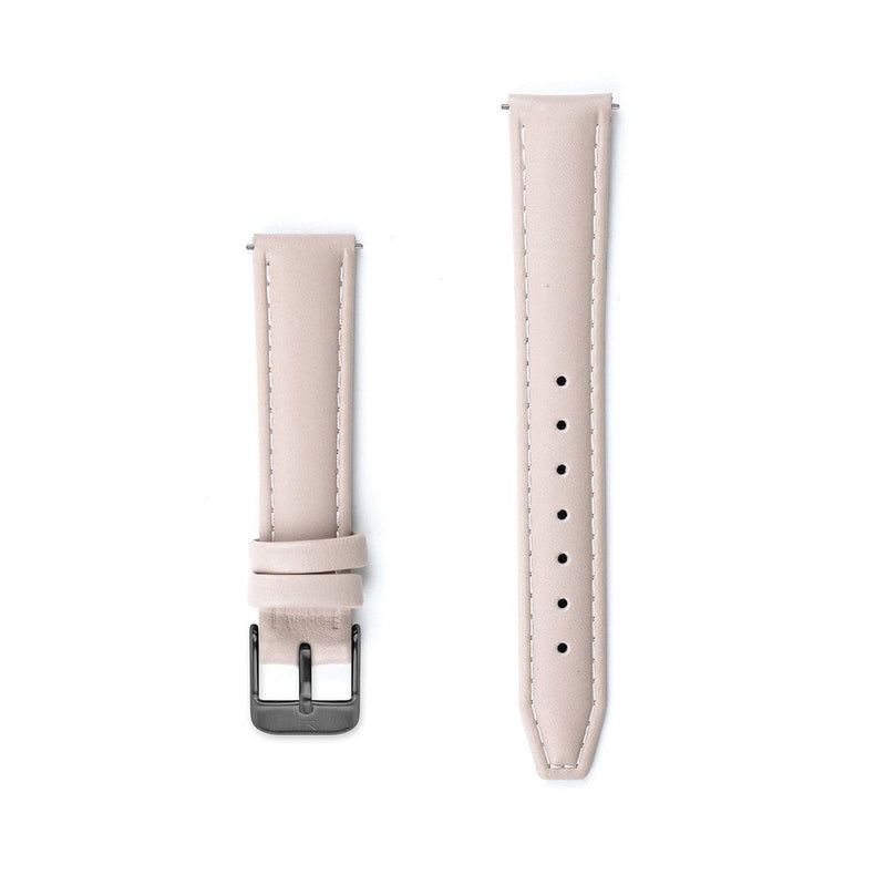 Nude Pink Stitched Leather Watch Strap - 16mm Width Watch Strap - Kartel Scotland