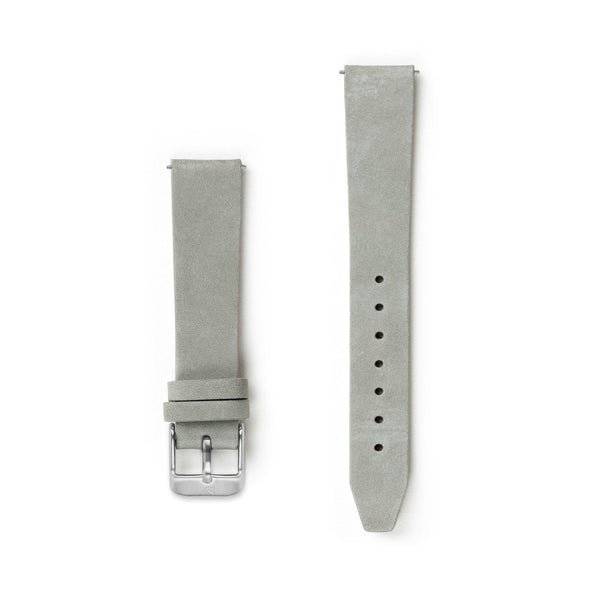 Flat Pale Grey Leather Watch Strap - 16mm Width Watch Strap - Kartel Scotland