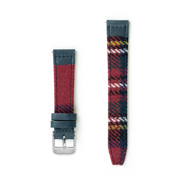 Stewart Tartan Lambswool Watch Strap - 16mm Width Watch Strap - Kartel Scotland
