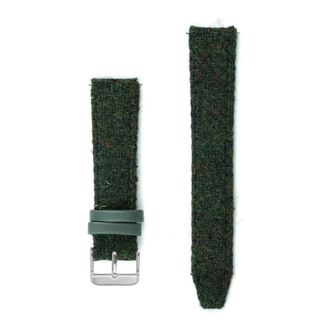 Bottle Green Harris Tweed Watch Strap - 20mm Width Watch Strap - Kartel Scotland