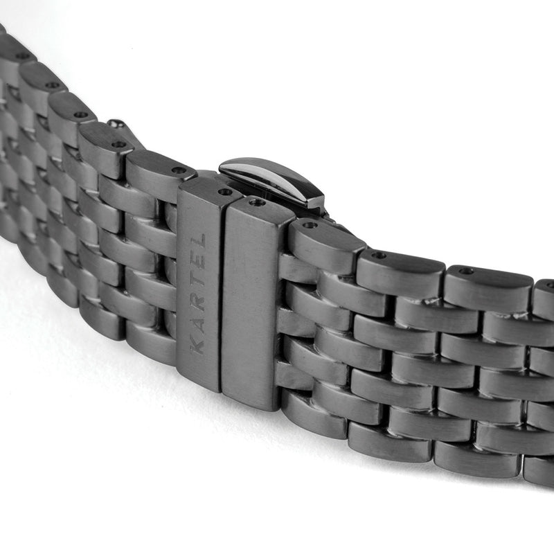 Black Metal Watch Strap - 20mm Width Watch Strap - Kartel Scotland