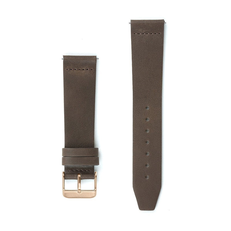 Dark Brown Flat Leather Watch Strap - 20mm Width Watch Strap - Kartel Scotland