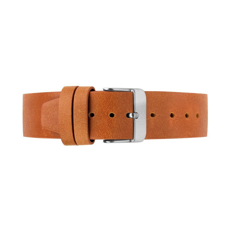 Tan Flat Leather Watch Strap - 20mm Width Watch Strap - Kartel Scotland