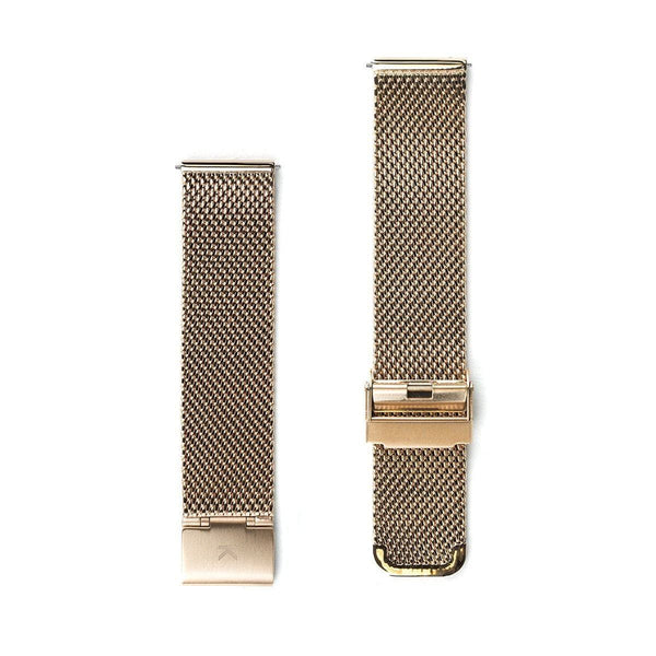 Rose Gold Chain Mesh Watch Strap - 20mm Width Watch Strap - Kartel Scotland