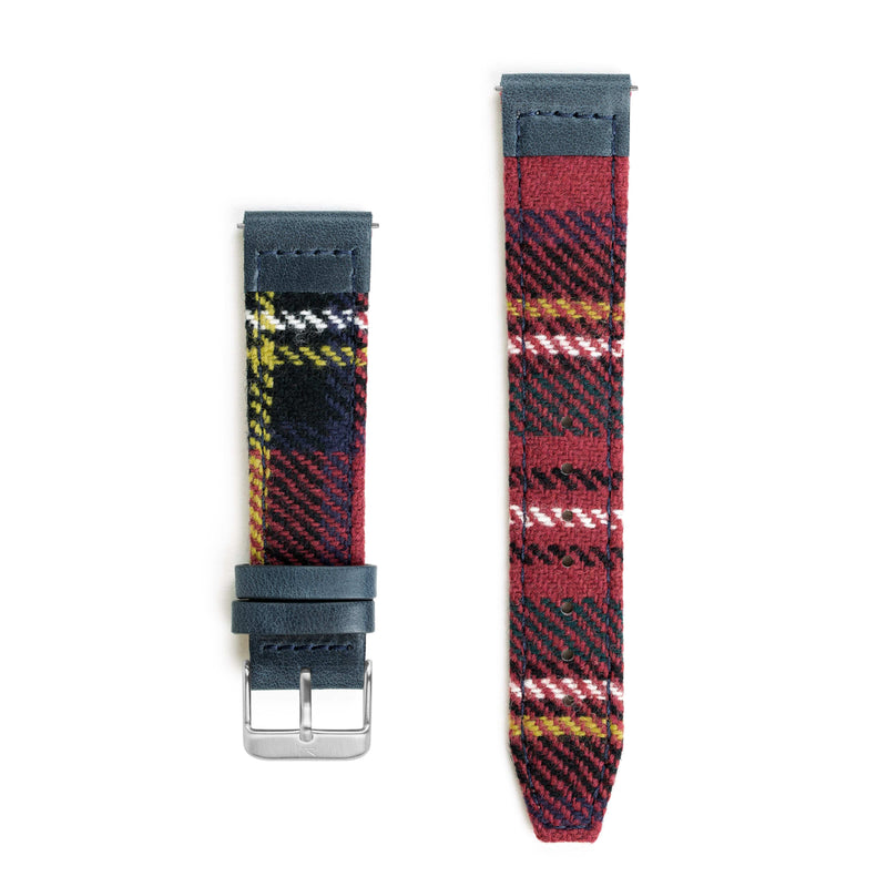 Royal Stewart Tartan Lambswool Watch Strap - 20mm Width Watch Strap - Kartel Scotland