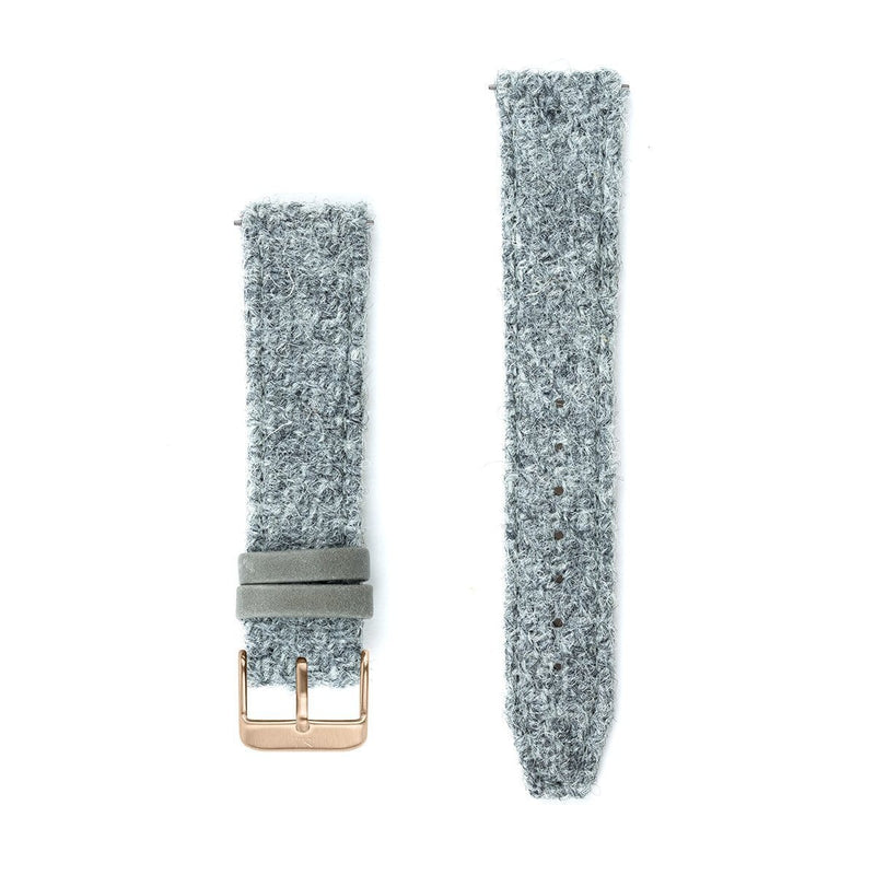 Light Grey Harris Tweed Watch Strap – 20mm Width Watch Strap - Kartel Scotland