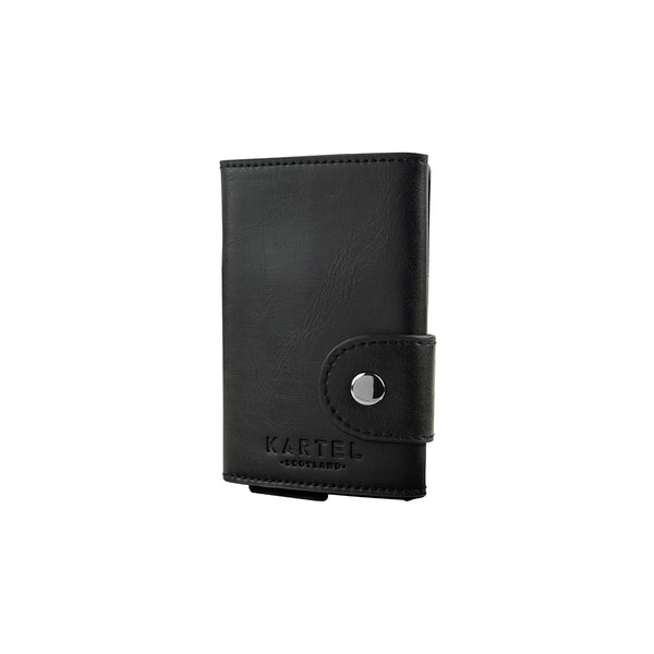 Black Wallet With Metal Card Holder