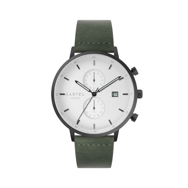 KNOYDART 43mm - White/Olive Watch