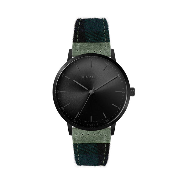 HUME 40mm Blue Tartan Strap Watch