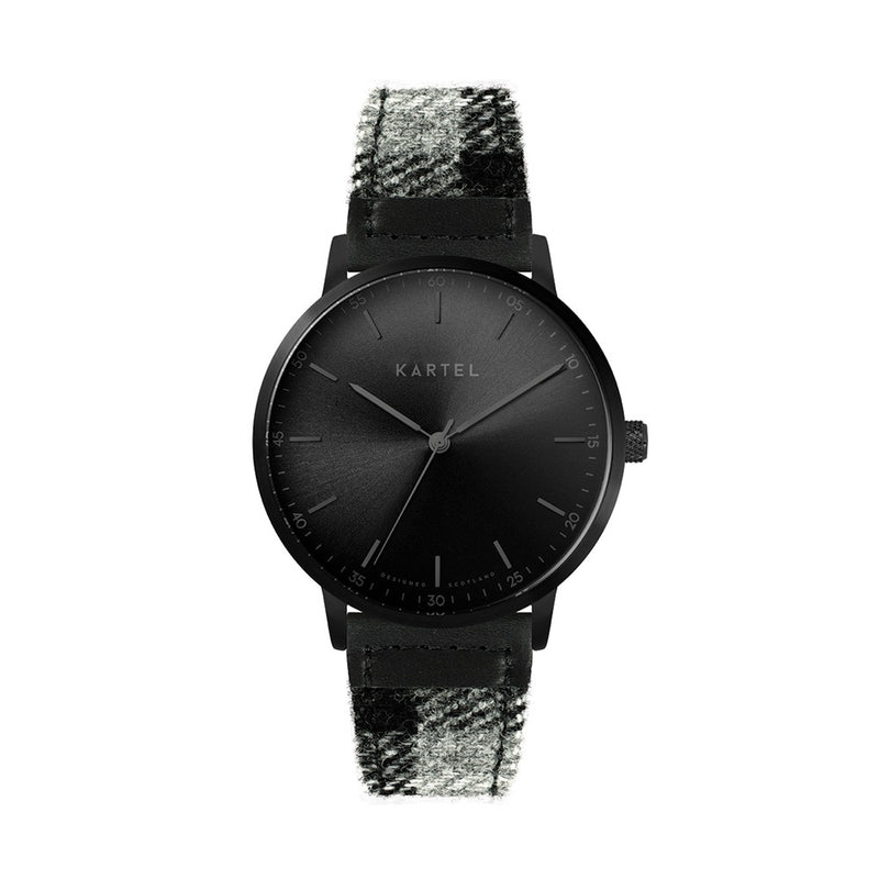 HUME 40mm Grey Tartan Strap Watch