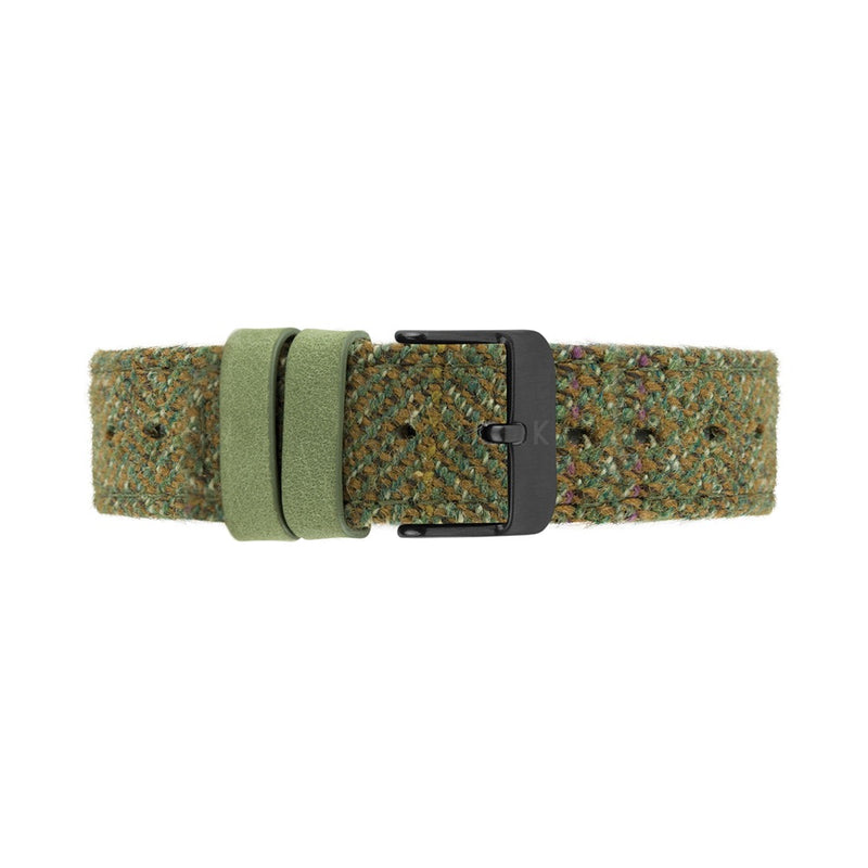 HUME 40mm Green Fabric Strap Watch