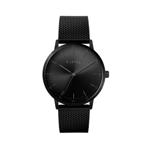HUME 40mm Black Chain Mesh Strap Watch