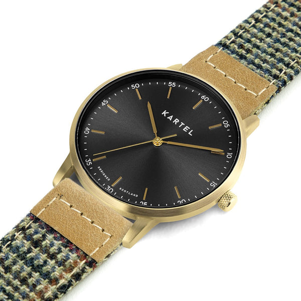HUME 40mm Brown Fabric Strap Watch