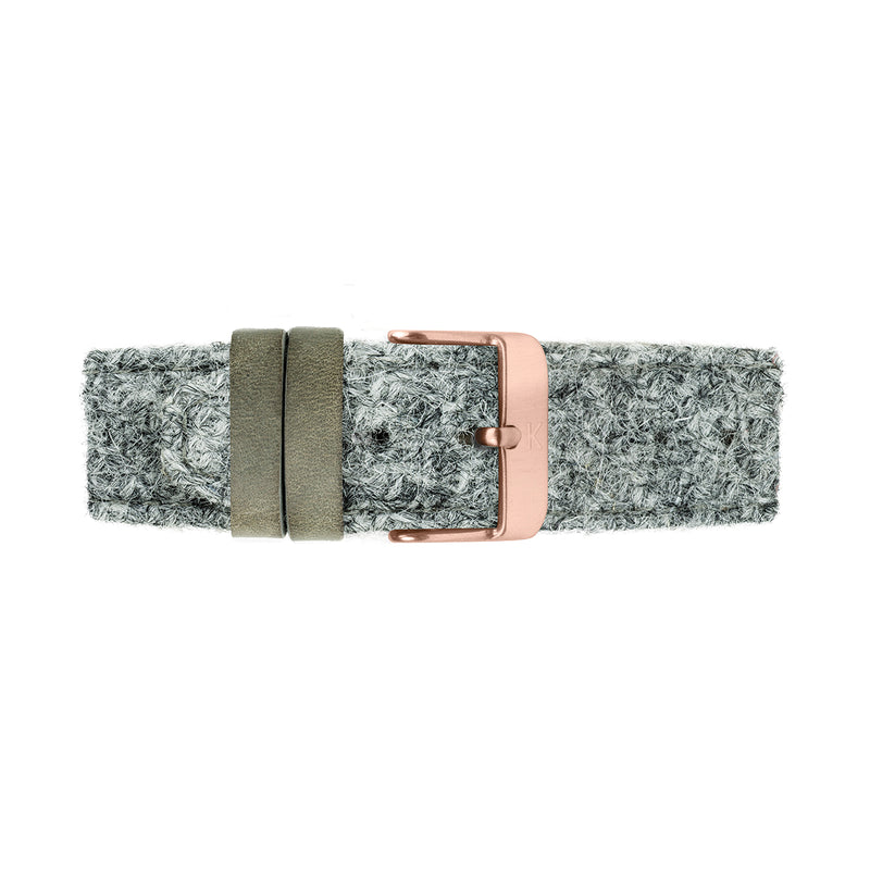 HUME 40mm Grey Harris Tweed Strap Watch