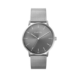 HUME 40mm Silver Chain Mesh Strap Watch