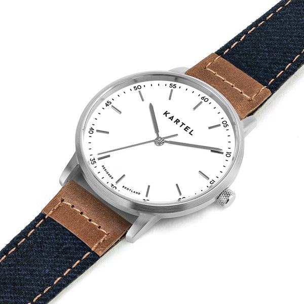 HUME 40mm Blue Fabric Strap Watch