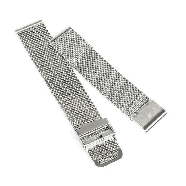 Silver Chain Mesh Watch Strap - 20mm Width Watch Strap - Kartel Scotland