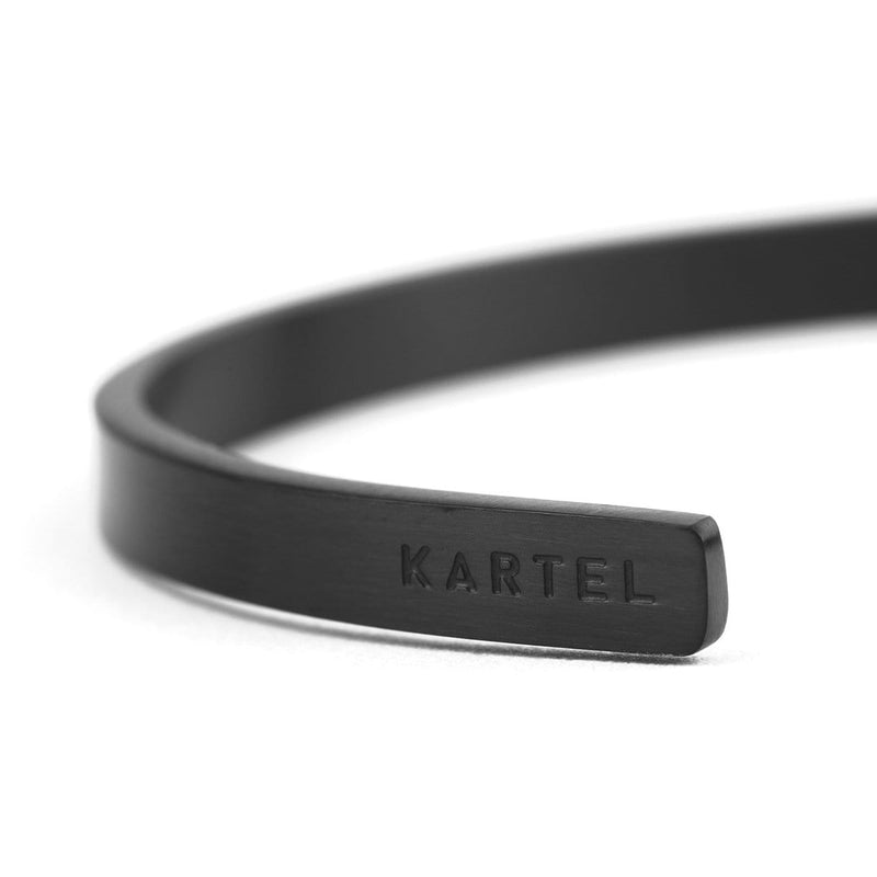 5mm Width Stainless Steel Cuff - Black Accessories - Kartel Scotland