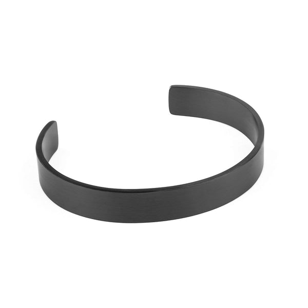 11mm Width Stainless Steel Cuff - Black Accessories - Kartel Scotland