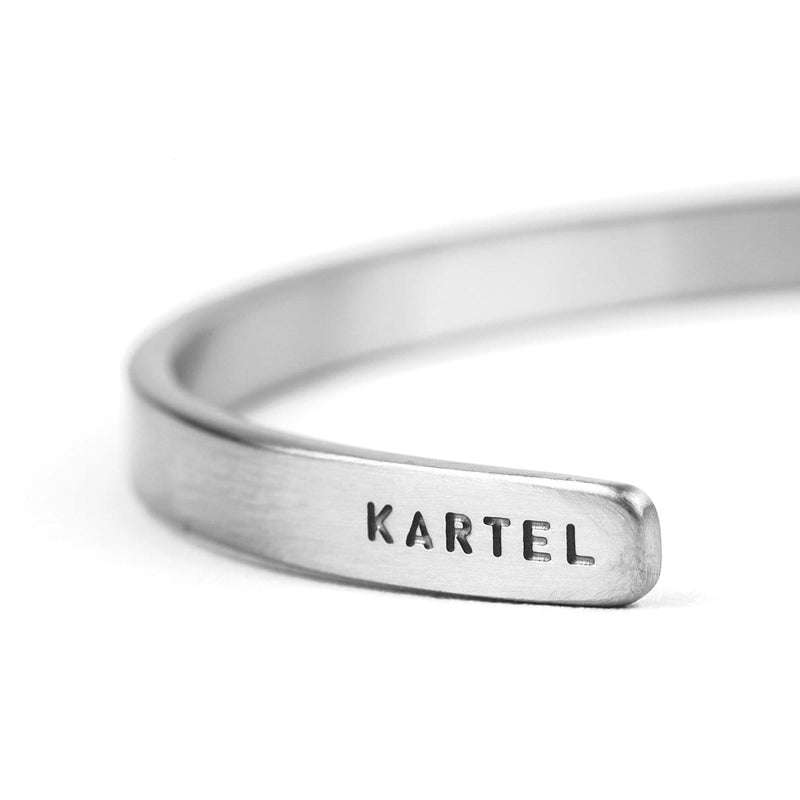 5mm Width Stainless Steel Cuff - Silver Accessories - Kartel Scotland
