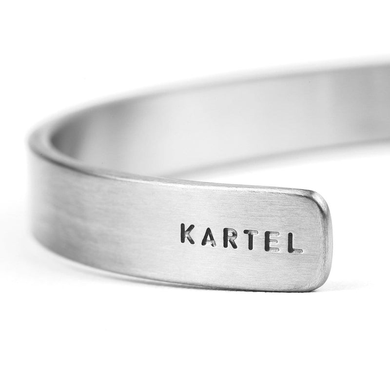 8mm Width Stainless Steel Cuff - Silver Accessories - Kartel Scotland