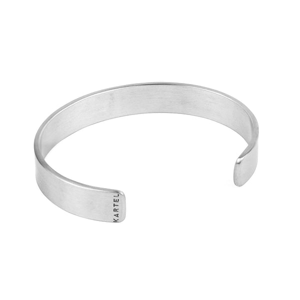 11mm Width Stainless Steel Cuff - Silver Accessories - Kartel Scotland