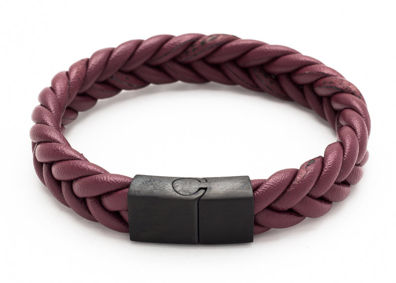 Woven wrap leather bracelet