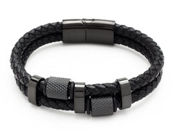 Outlaw - Double Woven Leather Bracelet