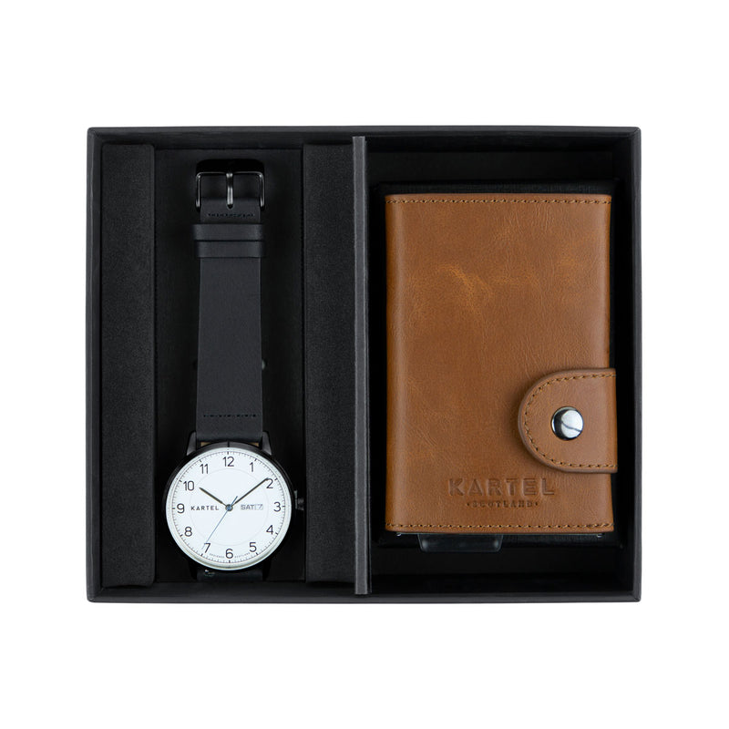 Morris Watch & Tan Leather Wallet Gift Set