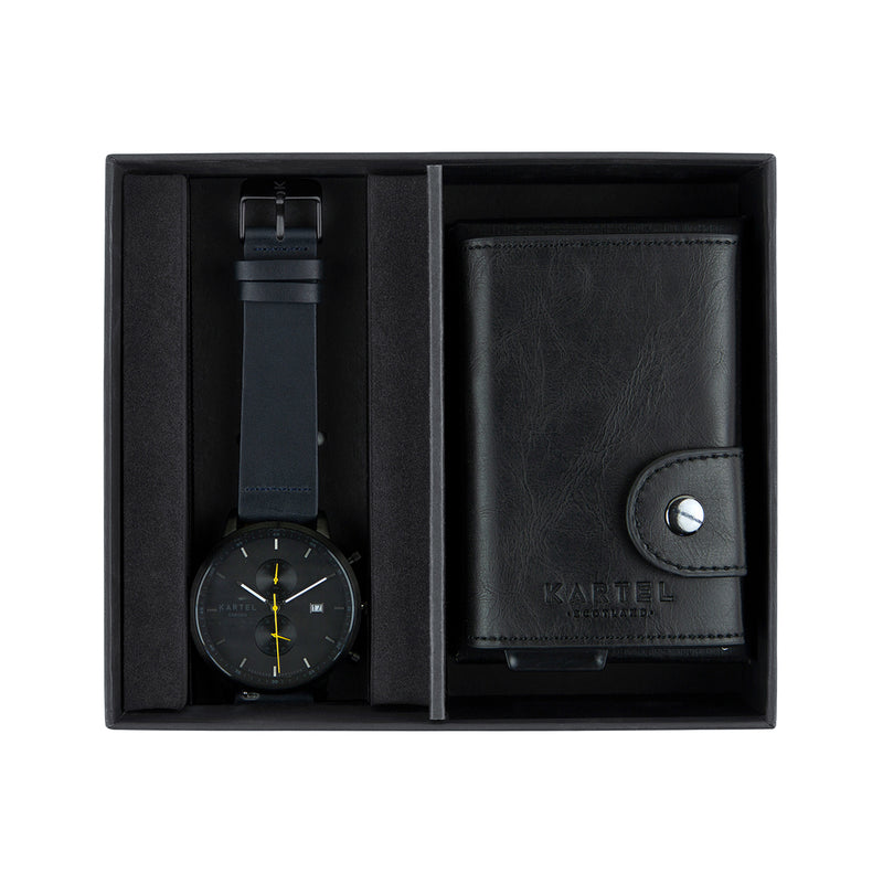 Knoydart Watch & Black Wallet Gift Set