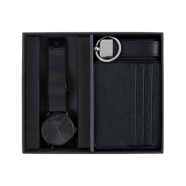 Hume Watch, Card Holder & Keyring Gift Set