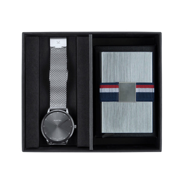 Hume Watch & Metal Card Holder Gift Set