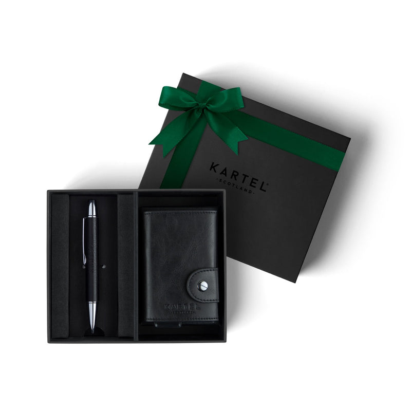 Pen & Black Wallet Gift Set