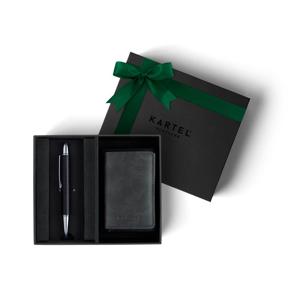 Pen & Grey Wallet Gift Set