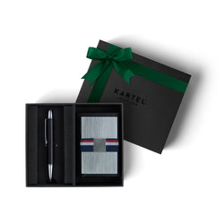 Pen & Metal Card Holder Gift Set