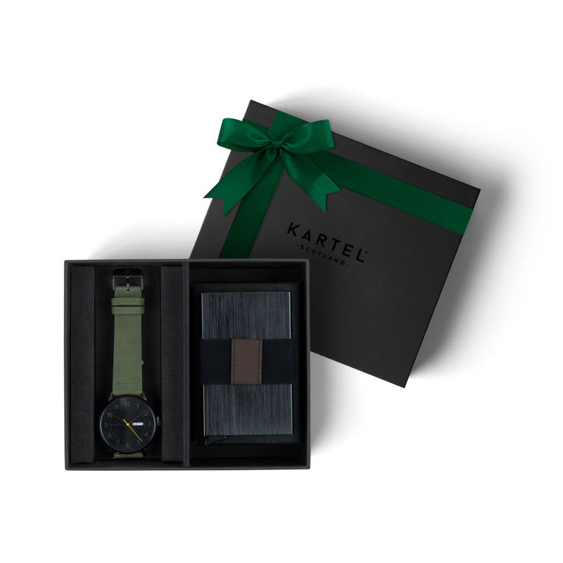 Morris Watch & Metal Card Holder Gift Set