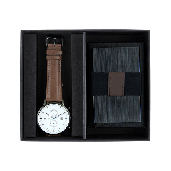 Knoydart Watch & Metal Card Holder Gift Set