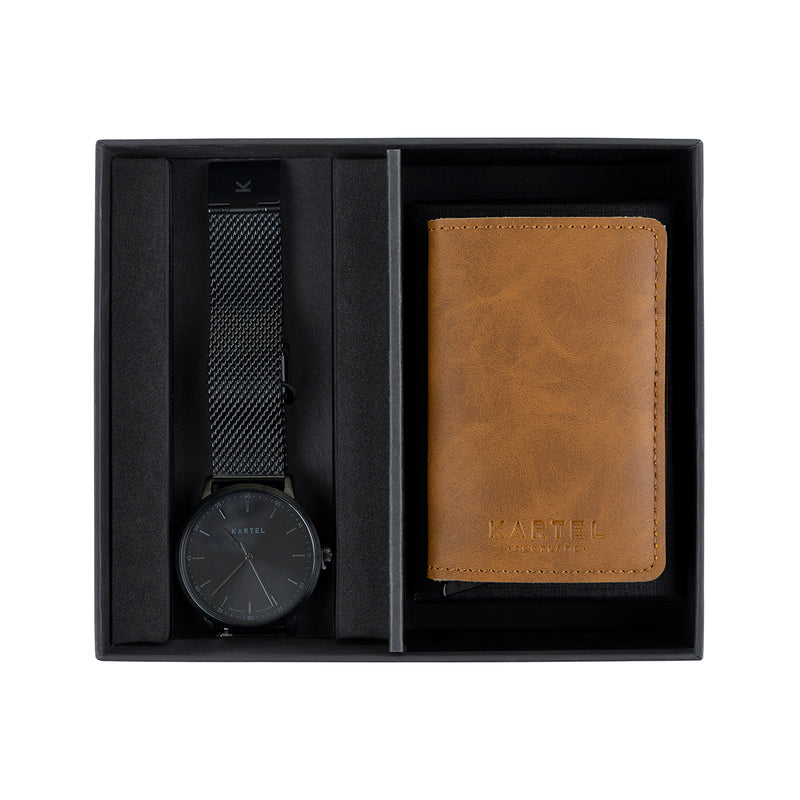 Hume Watch & Tan Wallet Gift Set