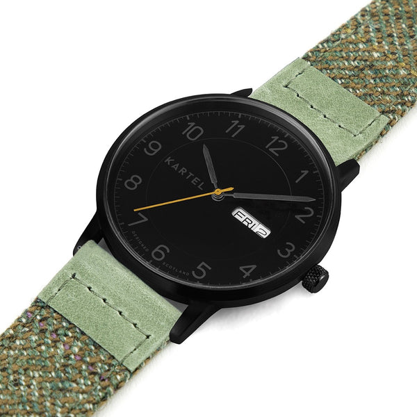 MORRIS 40mm Green Fabric Strap Watch