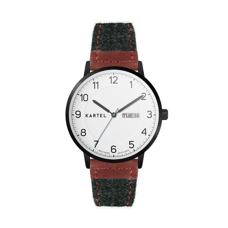 MORRIS 40mm Grey Fabric Strap Watch