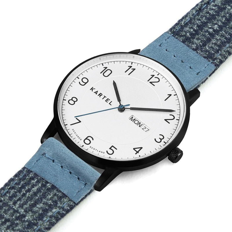 MORRIS 40mm Blue Fabric Strap Watch